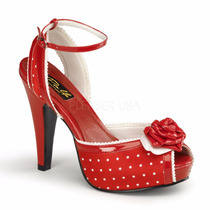 Zapatillas Marca Pin Up Couture Bettie-06 Lounge Blues 50s