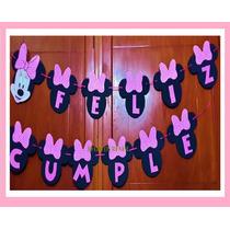Guirnalda Minnie + Feliz Cumple Goma Eva. Banderines Cartel