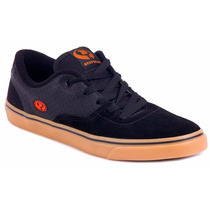 Tênis Masculino Drop Dead Skate On Preto Bordô Original
