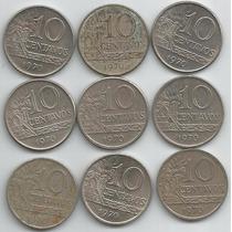 9 Moedas 10 Centavos Ano 1970 Catalogo V-297 (25)