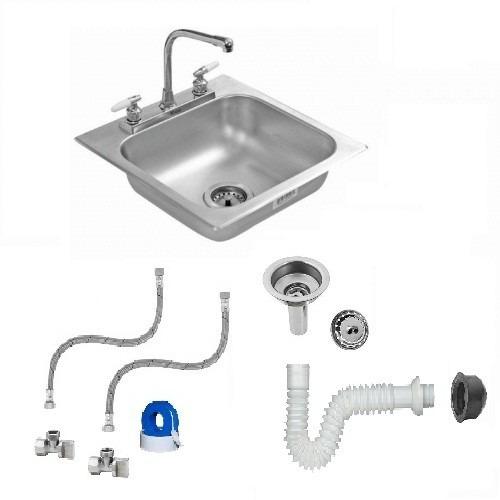 Tarja sencilla con mezcladora y accesorios 1 en for Llave mezcladora para tarja