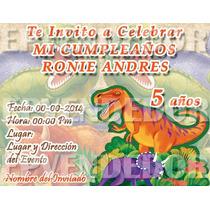 Tarjetas De Invitacion Dinosaurio - Invitaciones Epvendedor