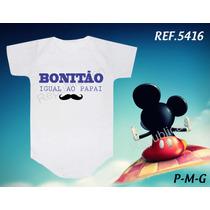 Body Personalizado Bori Infantil Bebê/ Papai/ Bigode Grosso