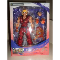 Street Fighter 4 Play Arts Kai Ken Figura Articulada 28cm