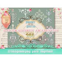 Kit Imprimible 13 Png Arabescos Decoradores Decoupage Scrap