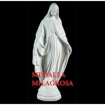 Virgen Medalla Milagrosa, Cemento, 75 Cm. De Altura, Jardin