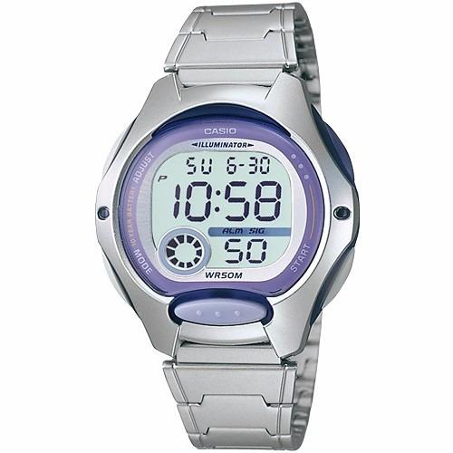 9e67dbf8cc1 Relógio Casio Feminino Lw-200 D Cronômetro Alarme Wr-50 Roxo - R  199
