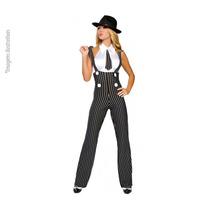 Fantasia Gangster Feminina Modelo Exclusivo