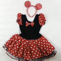 Fantasia Minnie Festa De Aniversário Com Tiara Orelhinha
