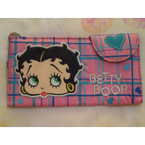 Cartera Billetera Betty Boop 100% Original Nueva Rosa C/azul