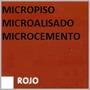 Piso Decoratico Micropiso Microcemento Cementicio Rojo