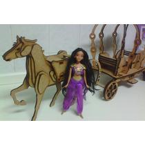 Carruagem Barbie Barbi Princesa Em Mdf Cr