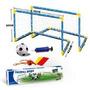 Kit Arco De Futbol Infantil Con Pelota Inflador Y Tarjetas