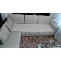 Sillón Esqui. Cuero Ecologico.con Mueble En Madera 8500$