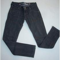 Jeans Foster Negro Pitillo Elasticado.