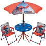 Mesa Y Sillas Con Sombrilla Spiderman