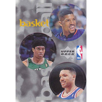 1997 Ud Choice Italian Sticker 3 Nba Players Kevin Johnson