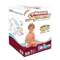 Pañales Huggies Supreme Etapa 6 Niña Y Niño 120 Piezas