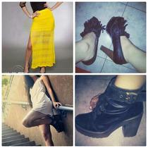 Pollera Vestido Y 2 Zapatos Vendo Todo Por Un Mismo Precio!