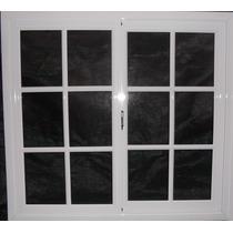 Fabrica Ventana De Aluminio 100x110 Vidrio Repartido Blanco