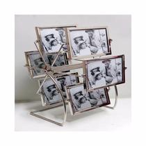 Porta Retrato Giratório Big Roda Metal E Vidro 12fotos 10x15