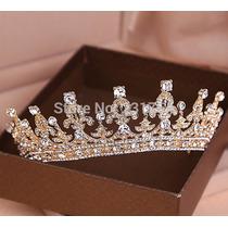 Coroa Tiara Noiva Dama Debutantes Casamento Dourada