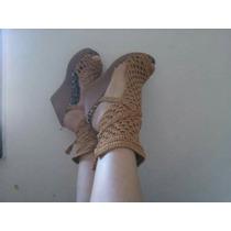 Sandalias Artesanales Tejidas A Crochet