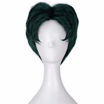 Disfraz Miss U Hair Men Short Fluffy Wavy Green Hair