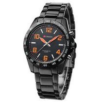 Relógio Masculino Curren Analógico Casual Laranja 8107
