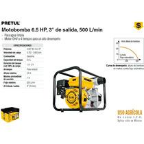 Moto Bomba Para Agua 6.5 Hp 3x3 500 L/min Pretul Dizome