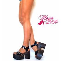 Sandalias De Mujer Plkataforma Y Taco Super Comodo Ed Lim