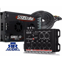 Modulo Soundigital Sd 800.4+crossover Stetsom Stx 52 Brinde
