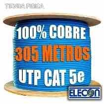 Bobina Utp Cat 5e 100% Cobre Marca Elecon
