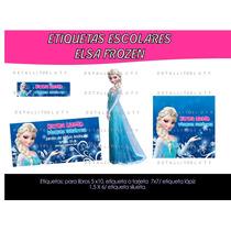 Kit De Etiquetas Escolares Imprimibles Frozen Elsa Y Ana