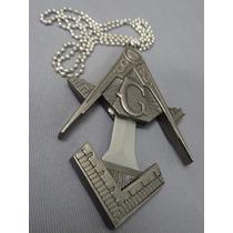 Espada Dije Masonico Maestro 100% Metalico Collar Daga