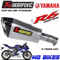 Escape Akrapovic Yamaha R6 2006 2016 Titanium Solo Mg Bikes