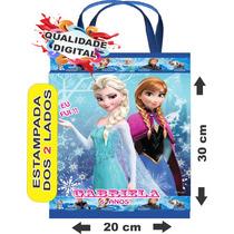 60 Sacolinhas Bolsinhas Personalizadas Ecobag Frozen 20x30