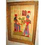 Pintura De Egipto Sobre Papiro Antigua