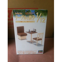Mesa Con Sillas Restaurant Table And Chair Figma 1/12 Tst