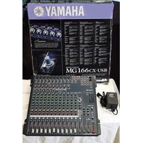 Consola Yamaha Mg166 Usb 16 Canales Perfecto Estado!
