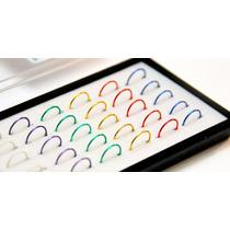 15 Un Piercing Nariz Argola Em Aço Inox 316l Color Promoção