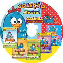 Coleção Dvd 5 Em 1 Galinha Pintadinha! 1 2 3 4 + Extras