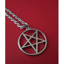 Colar Pingente Pentagrama Invertido Sobrenatural