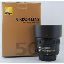 Lente Nova Nikon Nikkor 50mm F/1.8g Garantia Mercadoplatinum