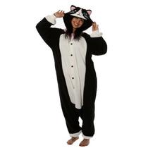 Gato Negro Kigurumi - Adult Halloween Costume