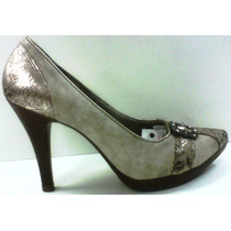 Sapato Feminino Salto Alto Retro Bico Tubarao R7741