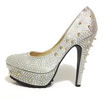 Sapato Feminino Salto Alto Festa Importado Luxo Brilho 036