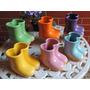 Botinha De Ceramica / Vaso / Vasinho Cerâmica Galochas
