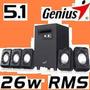 Speakers Cornetas Genius Sw-5.1 1020 Con Subwoofer 26watt
