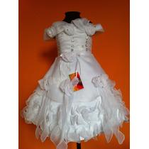 Vestido Infantil Festa / Princesa / Dama Branco Tam 4